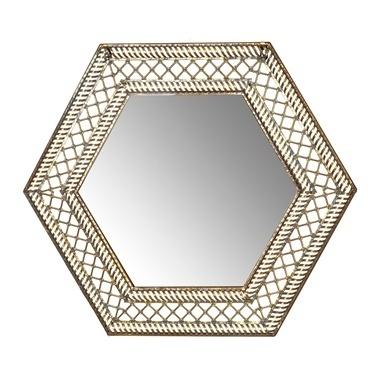 Vitale Vitale 69 cm Altıgen Bakır Duvar Aynası Renkli